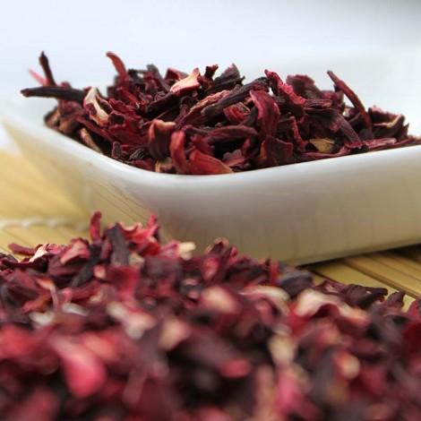Fleurs d'Hibiscus séchées pour infusions