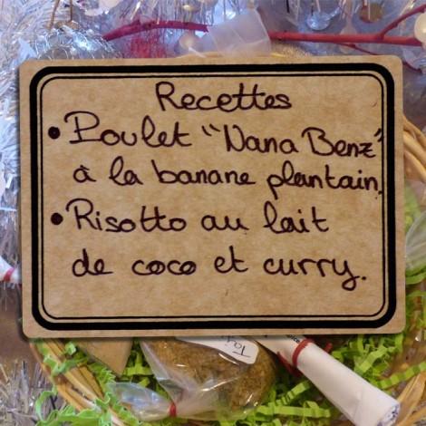 """Panière épices et recettes - Poulet """"Nana Benz"""" et Risotto"""