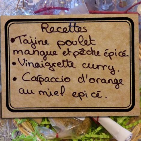 Panière épices et recettes - Tajine, Carpaccio et vinaigrette